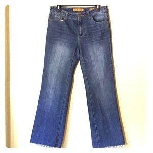 Seven7 Distressed Cut Offs Flare Jeans